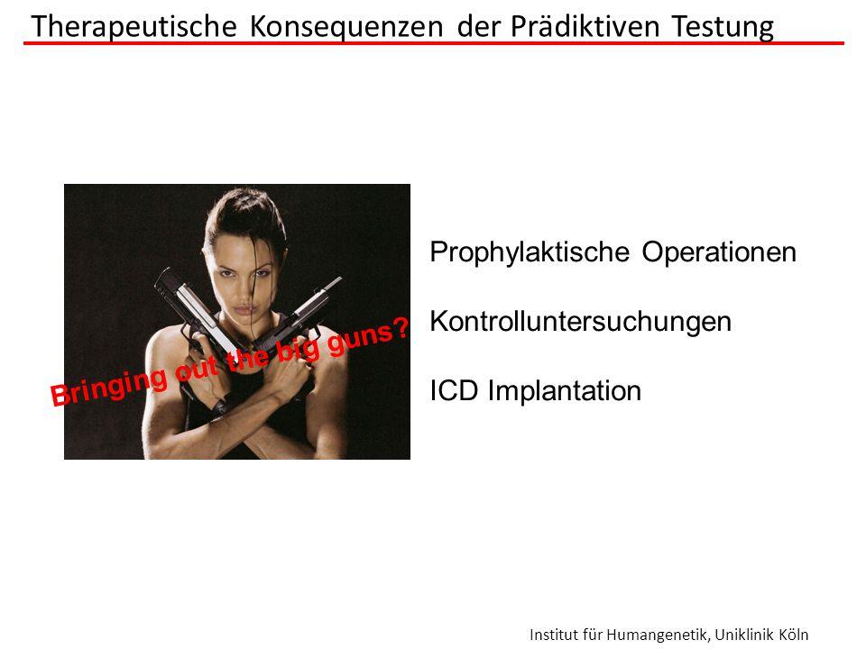 Therapeutische Konsequenzen der Prädiktiven Testung