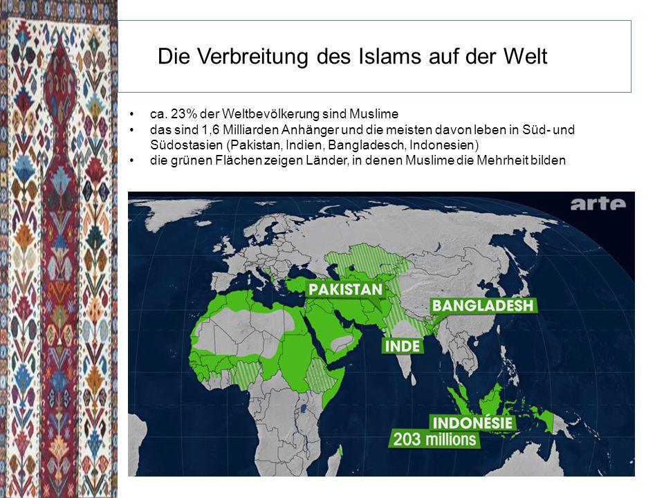 Die Verbreitung des Islams auf der Welt