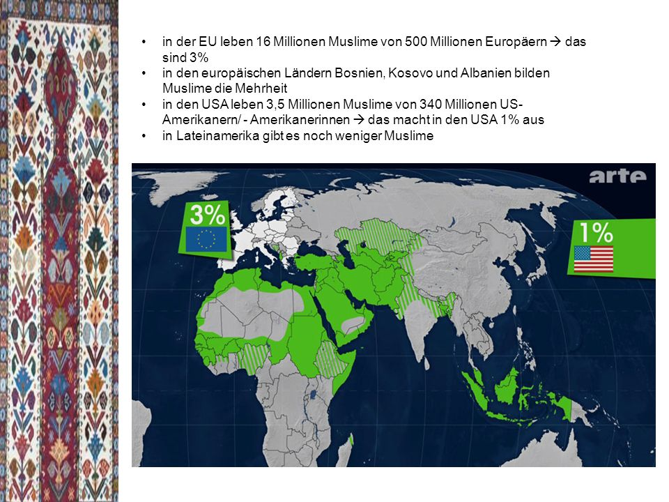 in der EU leben 16 Millionen Muslime von 500 Millionen Europäern  das sind 3%