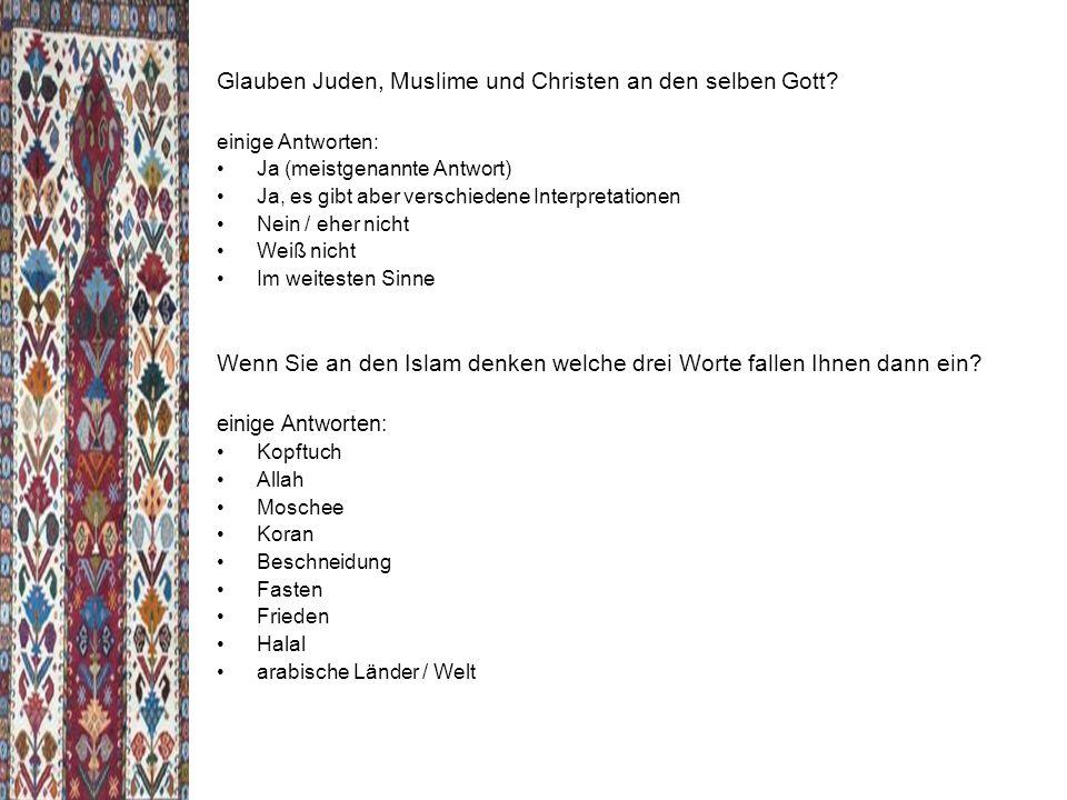 Glauben Juden, Muslime und Christen an den selben Gott