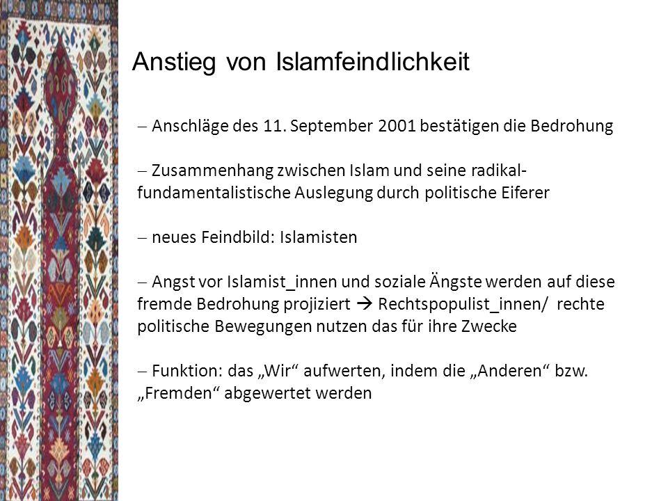 Anstieg von Islamfeindlichkeit