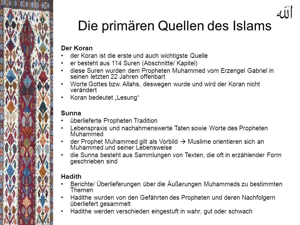 Die primären Quellen des Islams