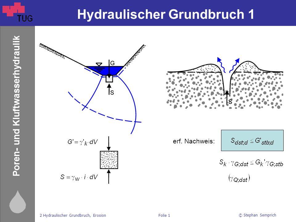 Hydraulischer Grundbruch 1