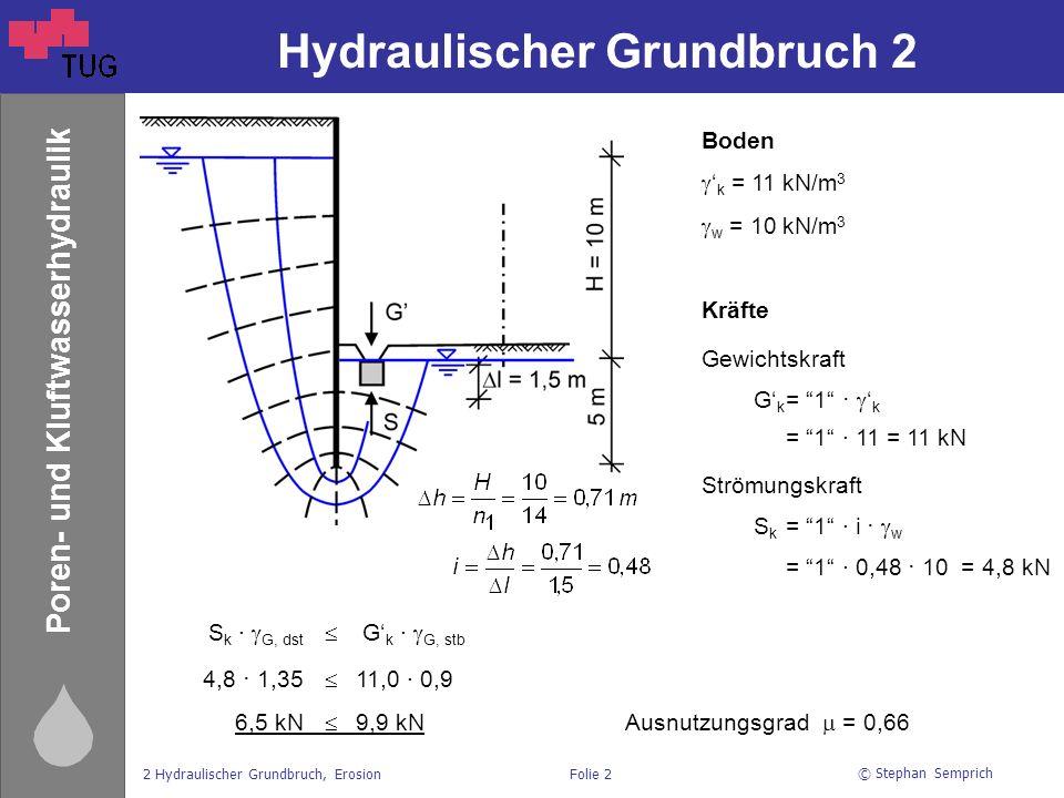 Hydraulischer Grundbruch 2