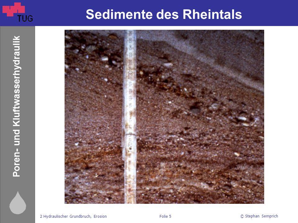 Sedimente des Rheintals