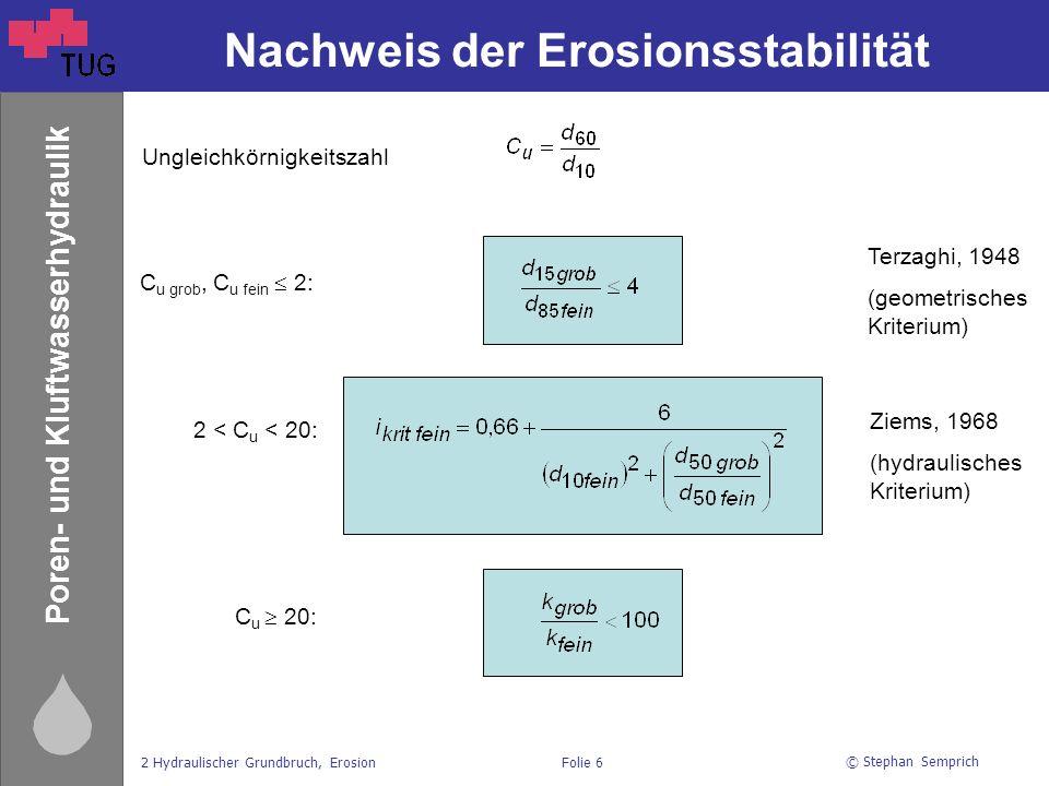 Nachweis der Erosionsstabilität