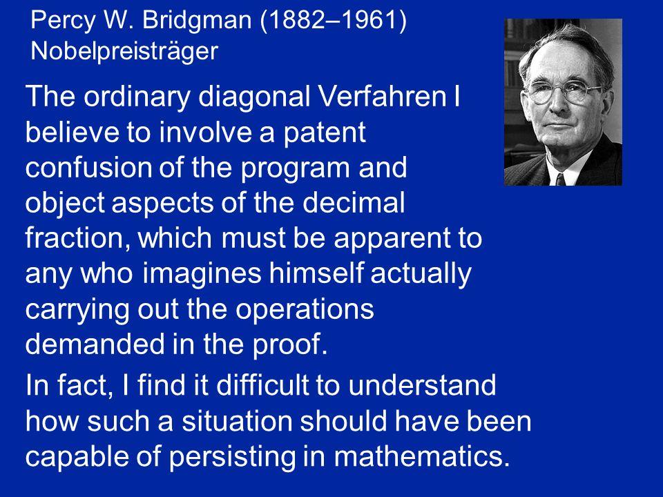 Percy W. Bridgman (1882–1961) Nobelpreisträger.