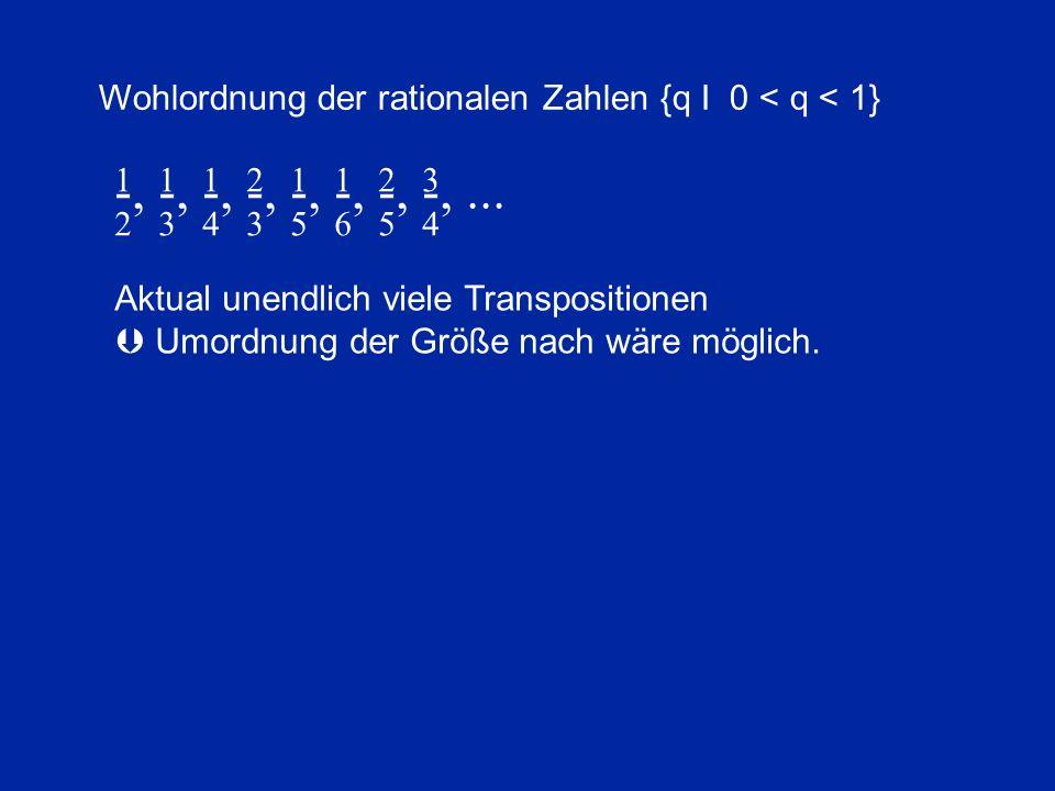 Wohlordnung der rationalen Zahlen {q I 0 < q < 1}