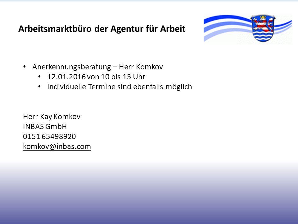 Arbeitsmarktbüro der Agentur für Arbeit