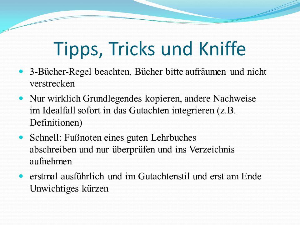 Tipps, Tricks und Kniffe