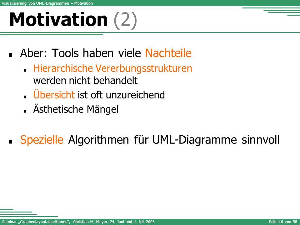 Motivation (2) Aber: Tools haben viele Nachteile