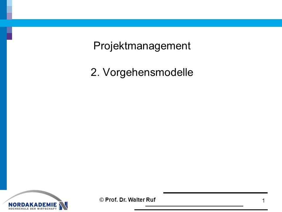 Projektmanagement 2. Vorgehensmodelle