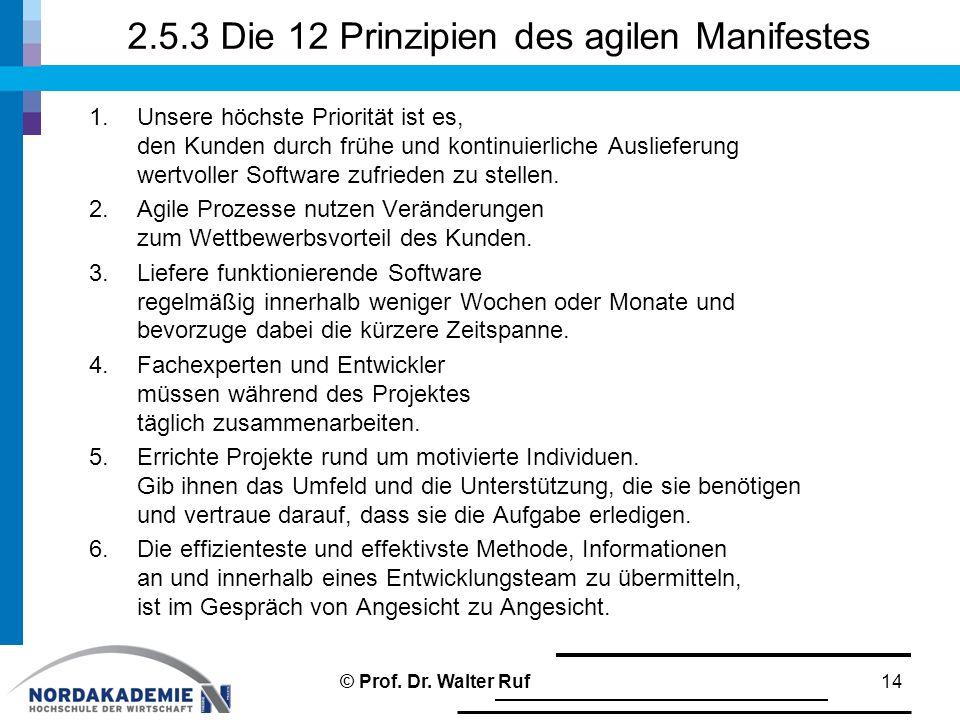 2.5.3 Die 12 Prinzipien des agilen Manifestes