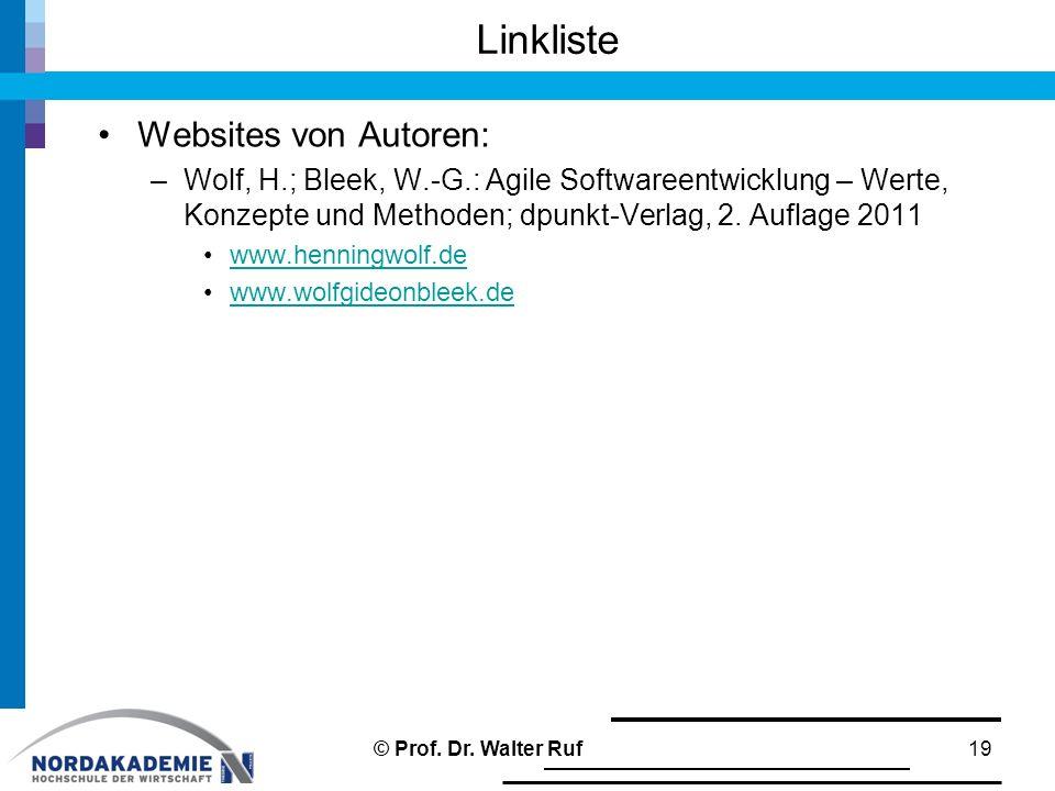 Linkliste Websites von Autoren: