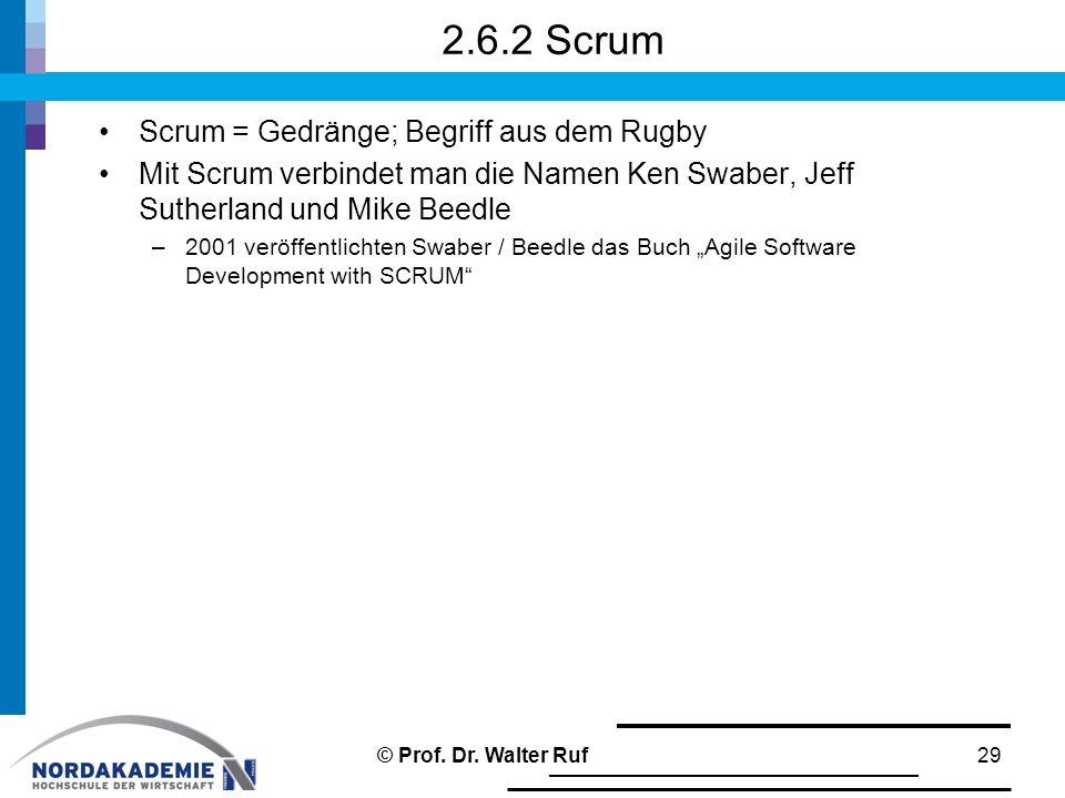 2.6.2 Scrum Scrum = Gedränge; Begriff aus dem Rugby