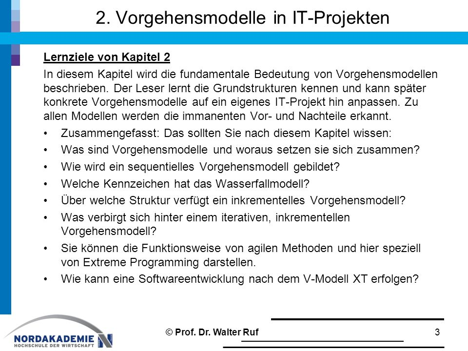 2. Vorgehensmodelle in IT-Projekten