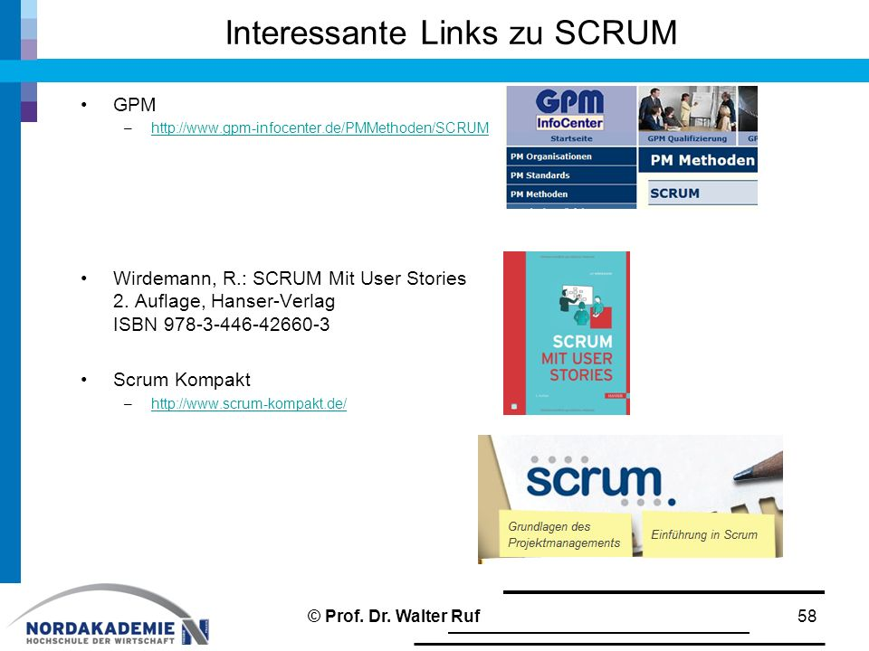 Interessante Links zu SCRUM