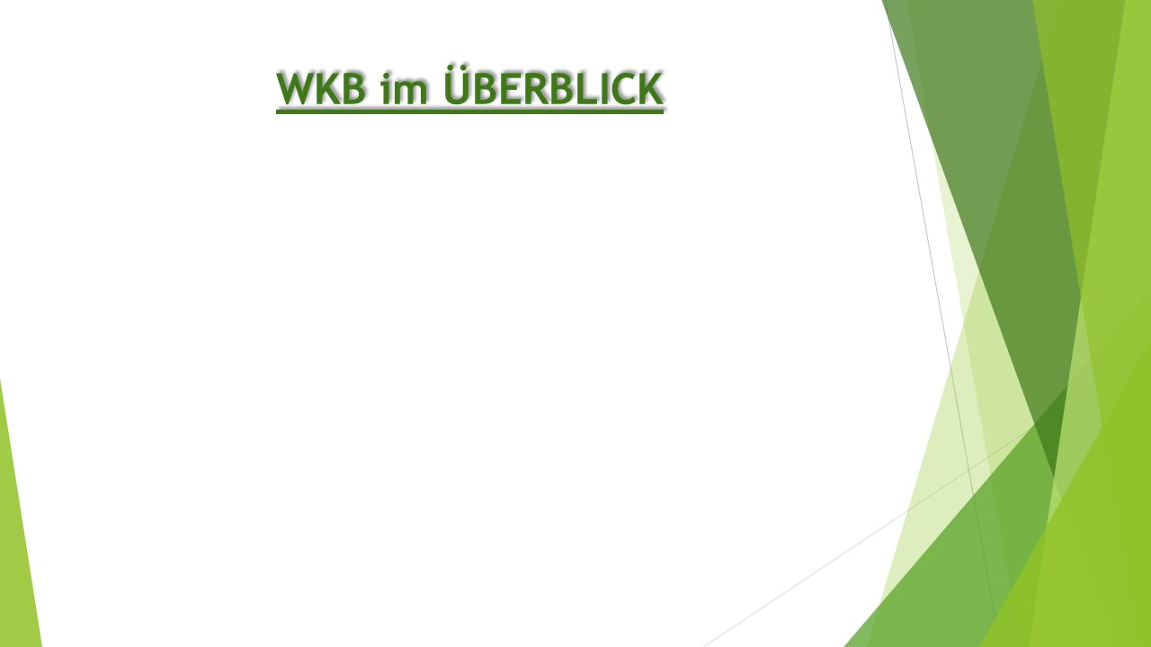 WKB im ÜBERBLICK