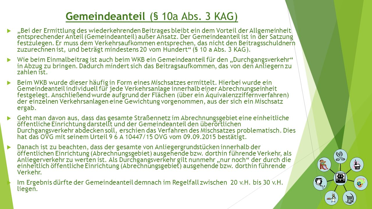 Gemeindeanteil (§ 10a Abs. 3 KAG)