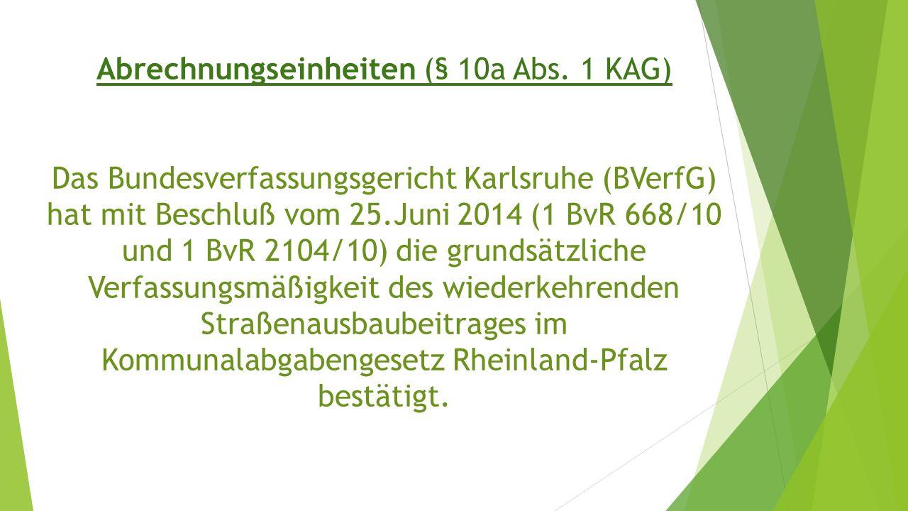 Abrechnungseinheiten (§ 10a Abs