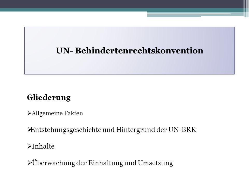 UN- Behindertenrechtskonvention