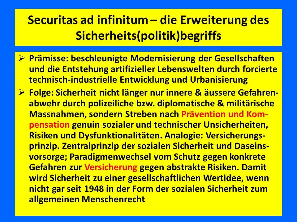 Securitas ad infinitum – die Erweiterung des Sicherheits(politik)begriffs