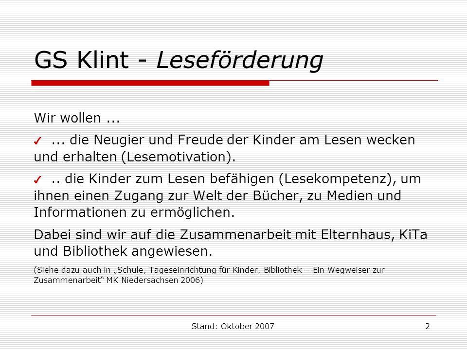 GS Klint - Leseförderung