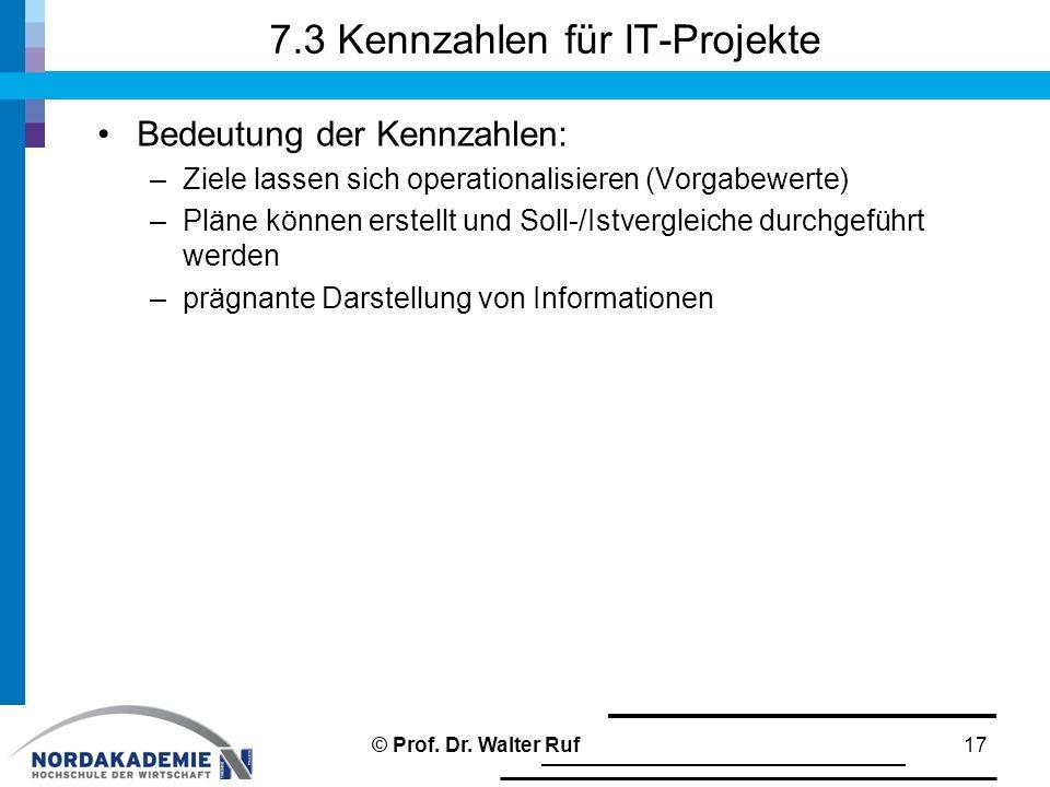 7.3 Kennzahlen für IT-Projekte