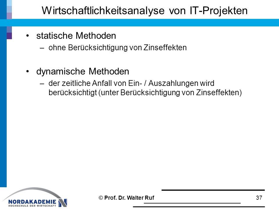 Wirtschaftlichkeitsanalyse von IT-Projekten