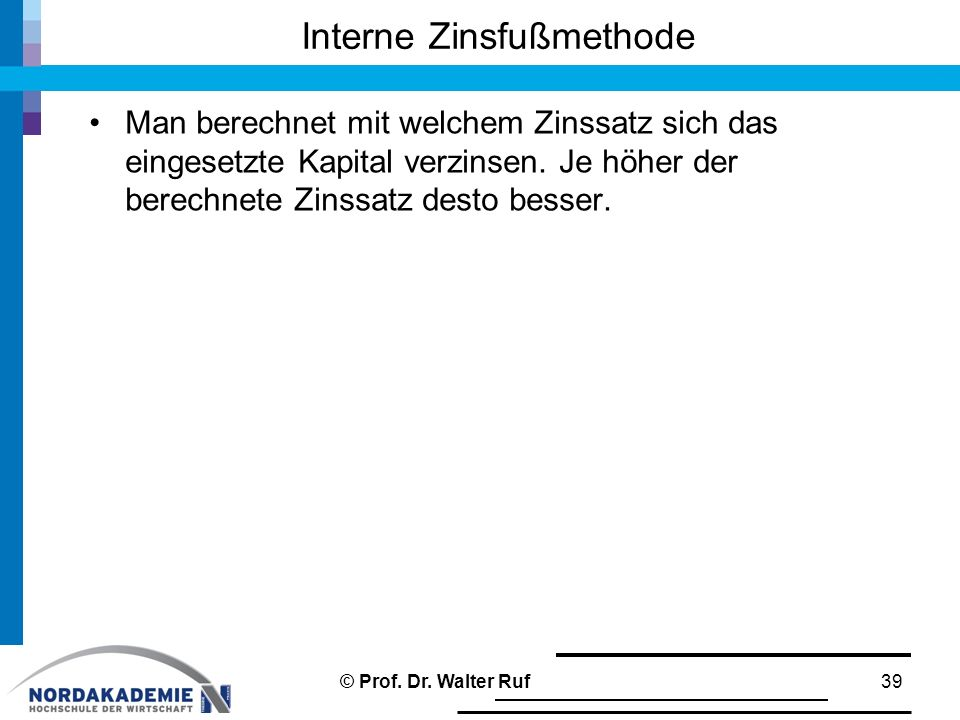 Interne Zinsfußmethode