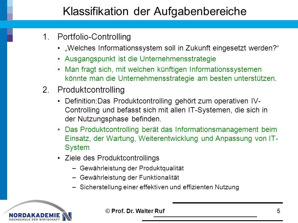 Klassifikation der Aufgabenbereiche