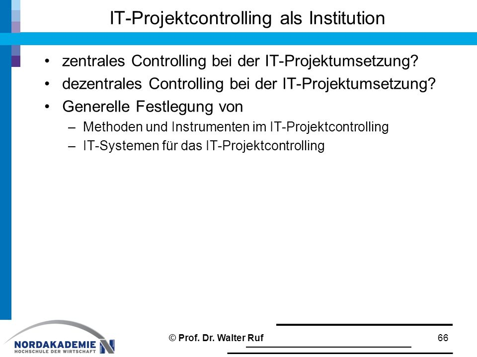 IT-Projektcontrolling als Institution