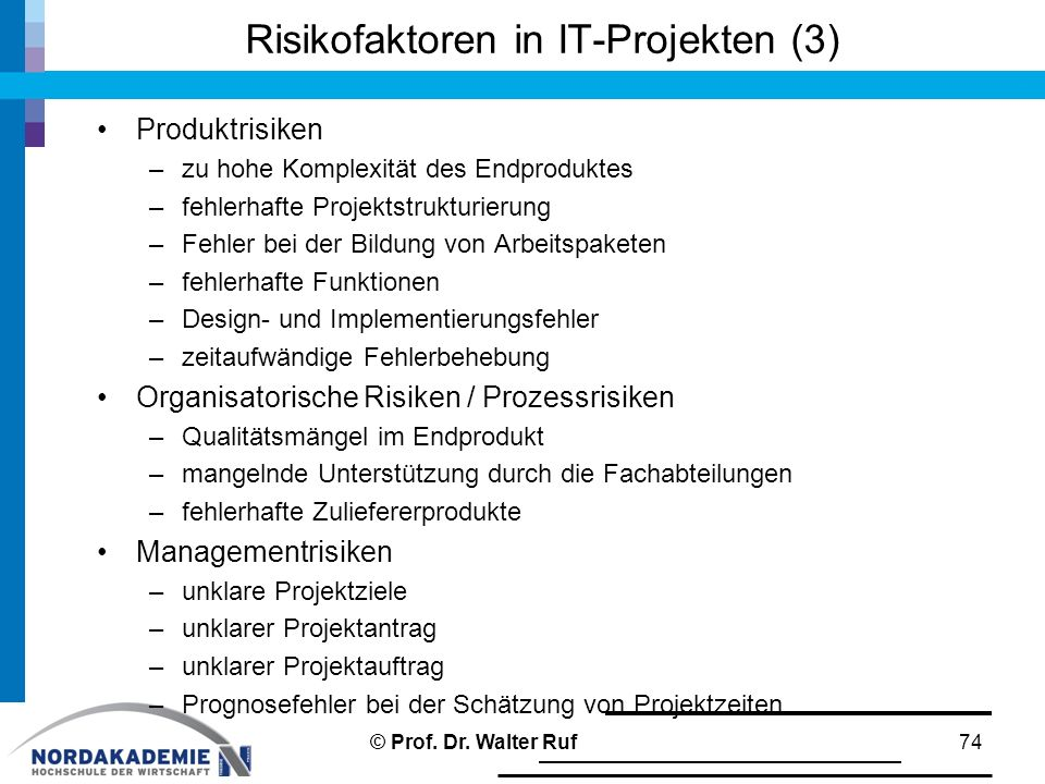 Risikofaktoren in IT-Projekten (3)