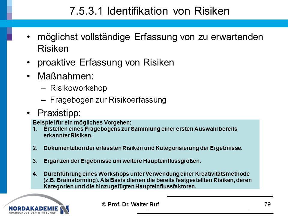 7.5.3.1 Identifikation von Risiken