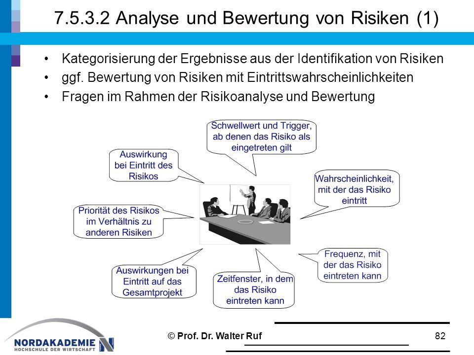 7.5.3.2 Analyse und Bewertung von Risiken (1)