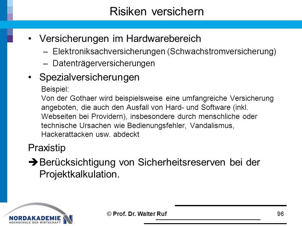Risiken versichern Versicherungen im Hardwarebereich