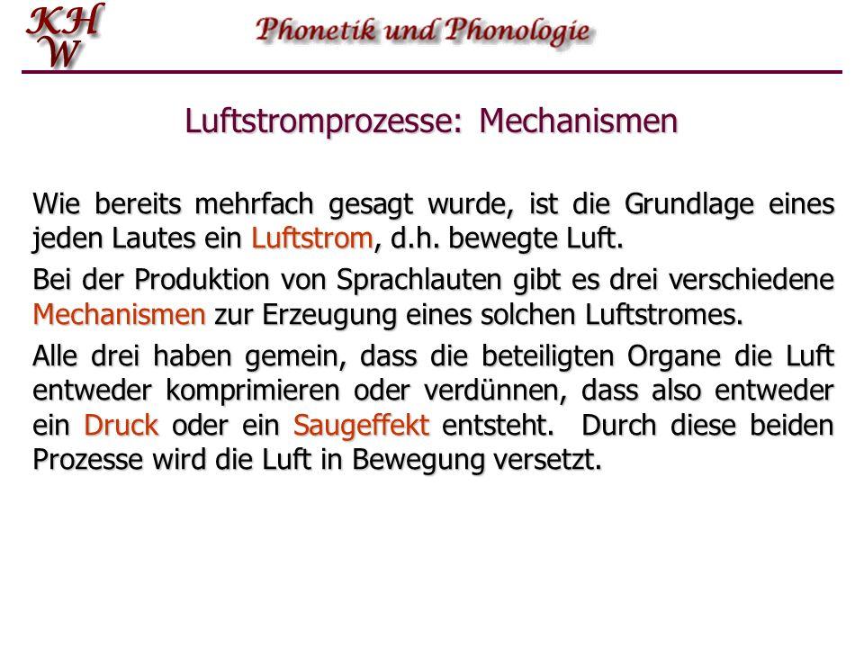 Luftstromprozesse: Mechanismen