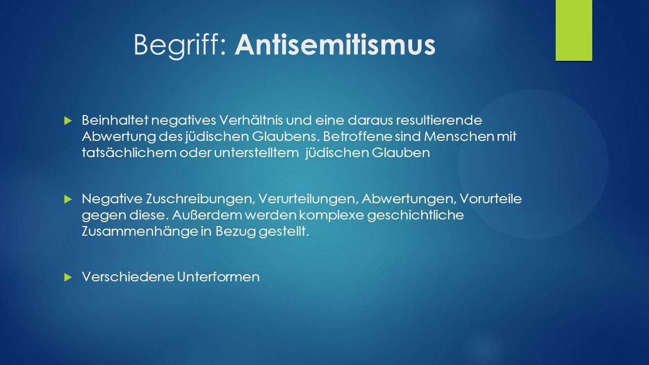 Begriff: Antisemitismus