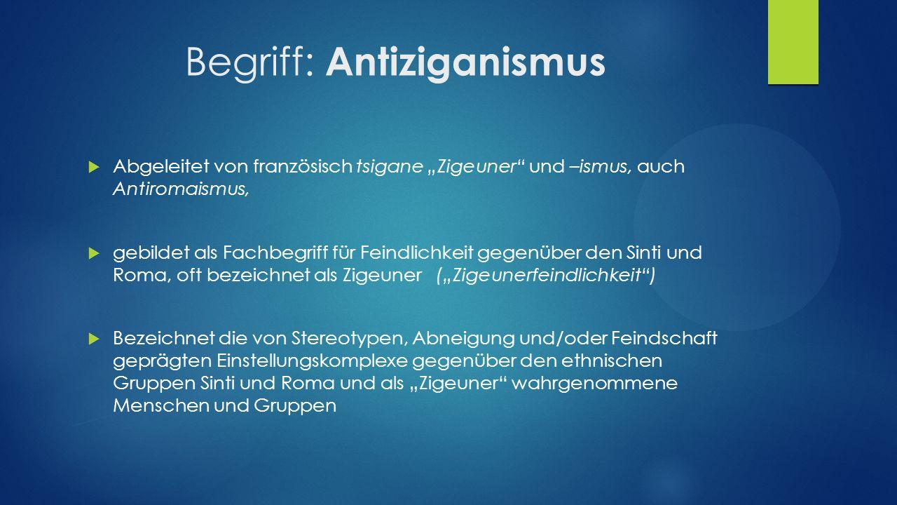 Begriff: Antiziganismus