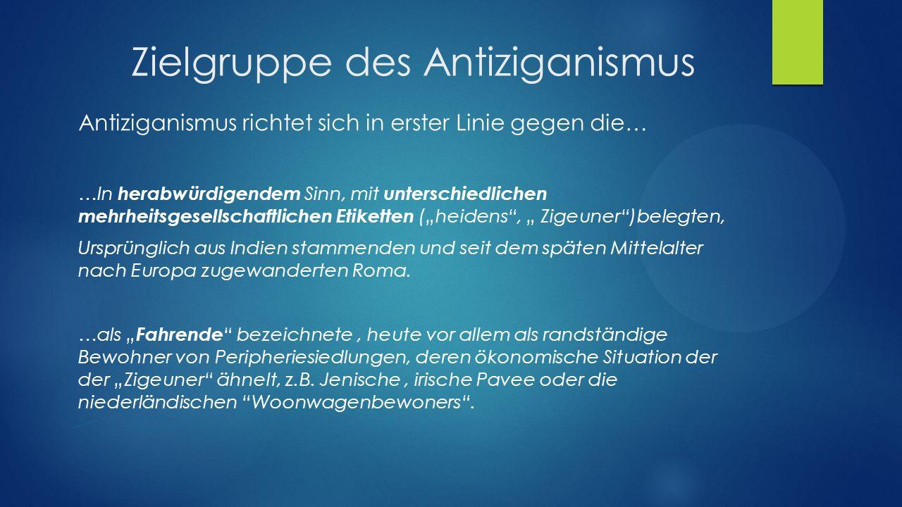Zielgruppe des Antiziganismus