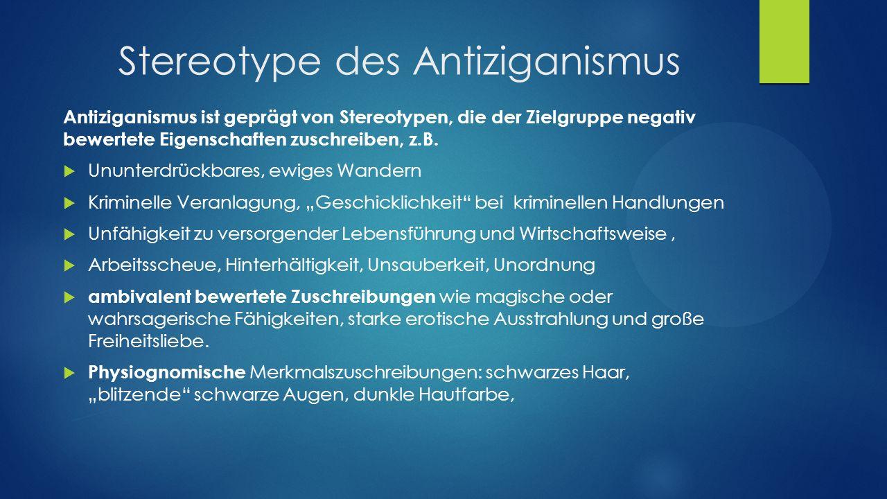 Stereotype des Antiziganismus