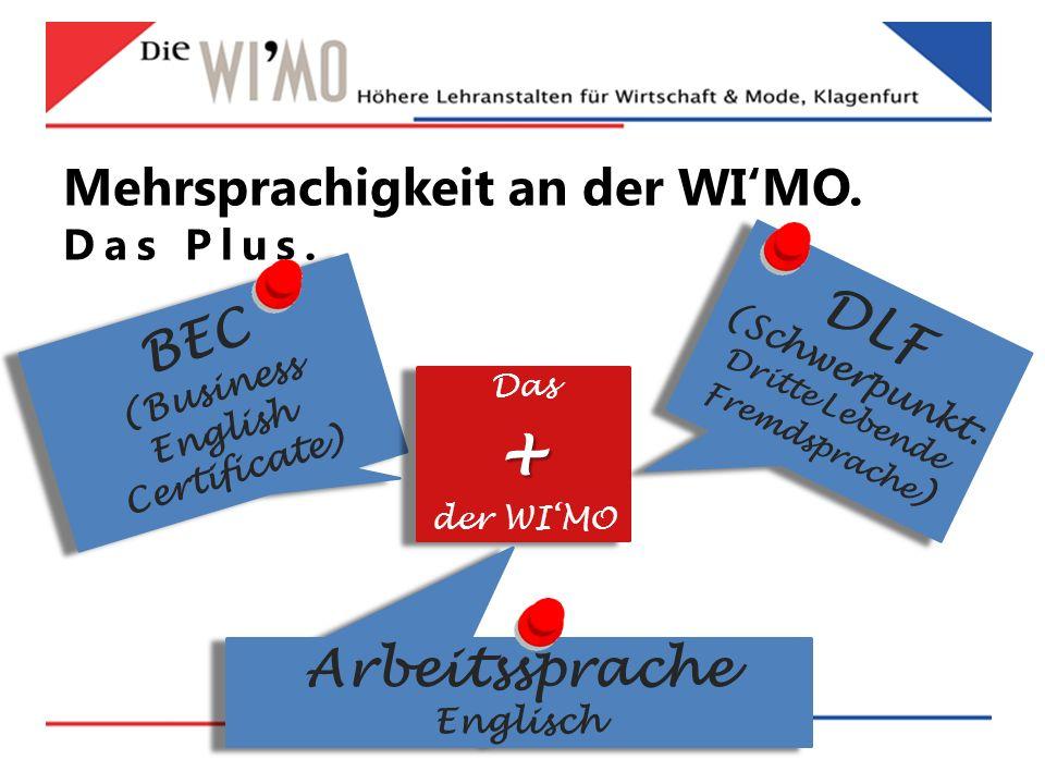 Mehrsprachigkeit an der WI'MO. Das Plus.