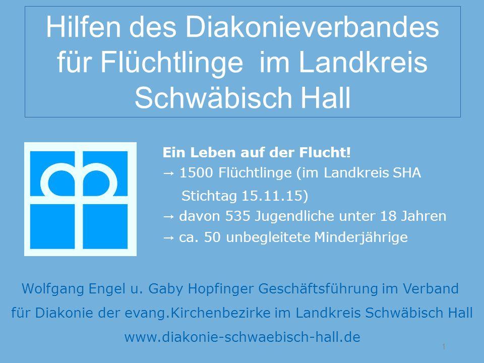 Hilfen des Diakonieverbandes für Flüchtlinge im Landkreis Schwäbisch Hall