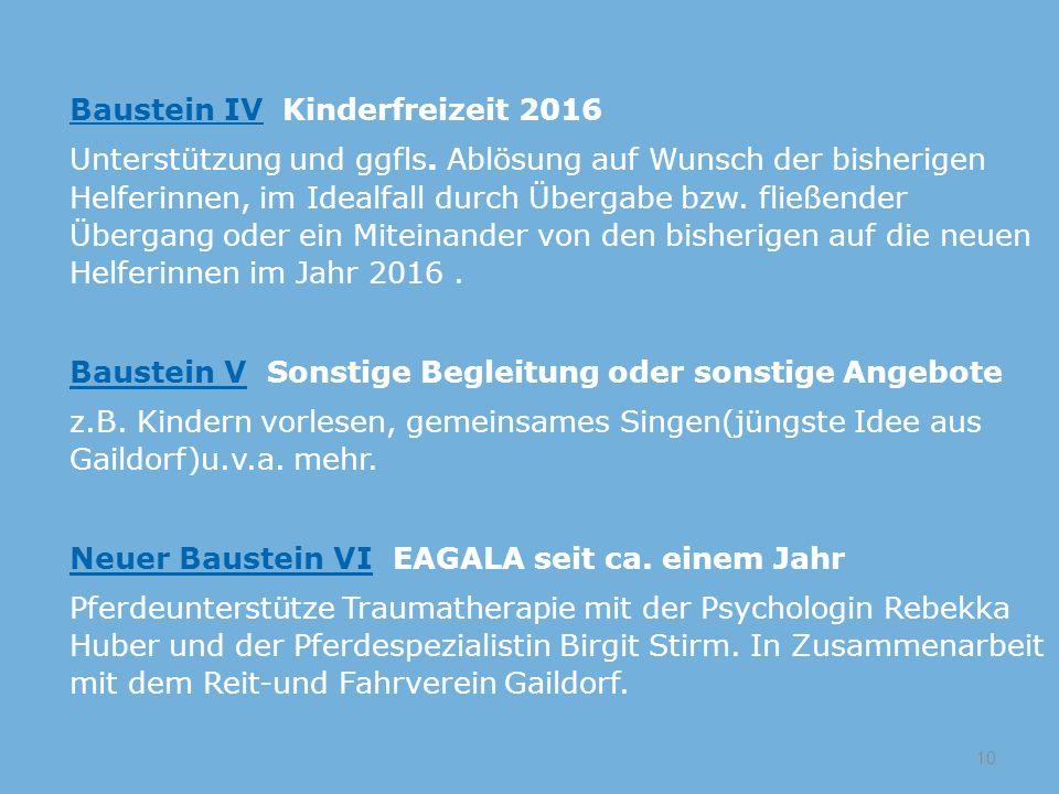 Baustein IV Kinderfreizeit 2016