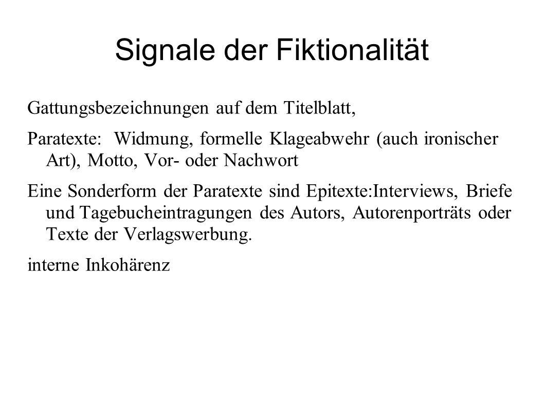 Signale der Fiktionalität
