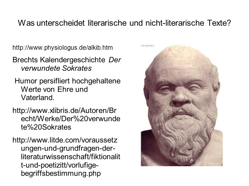 Was unterscheidet literarische und nicht-literarische Texte