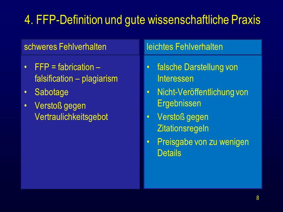 4. FFP-Definition und gute wissenschaftliche Praxis