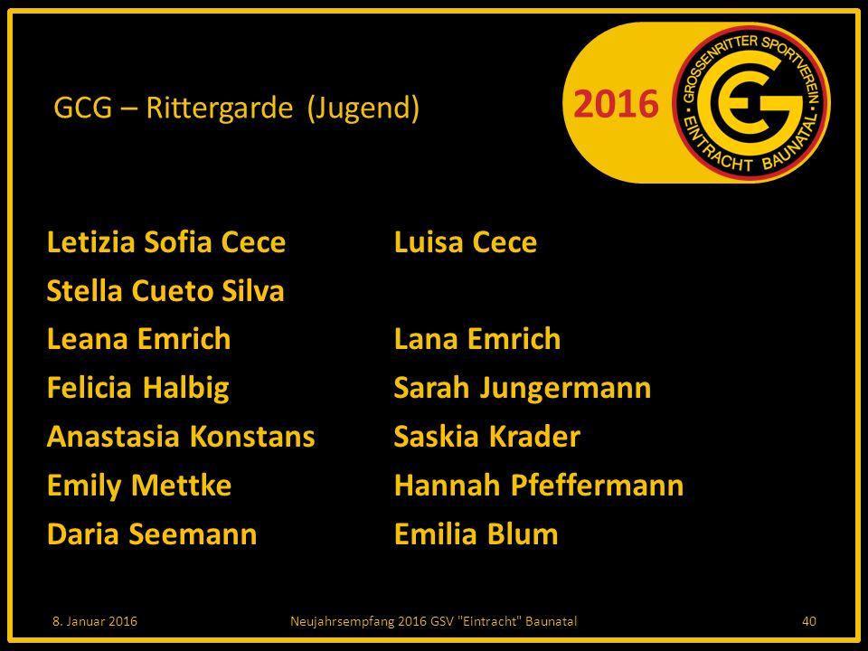 GCG – Rittergarde (Jugend)