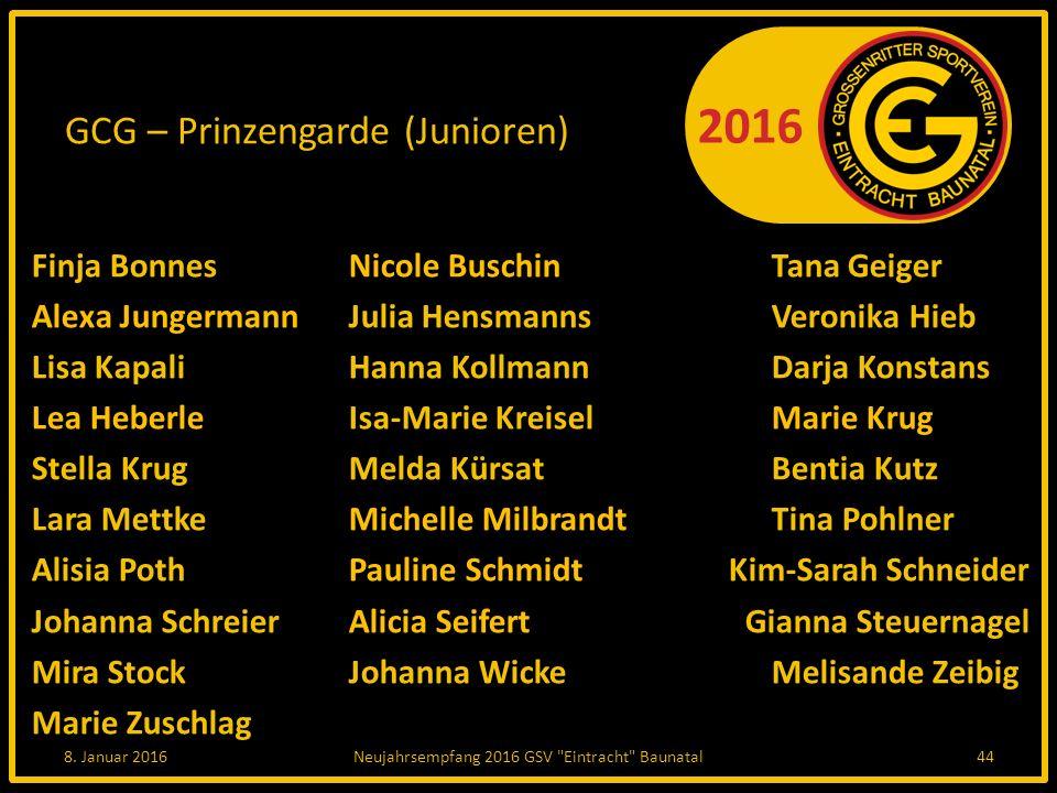 GCG – Prinzengarde (Junioren)