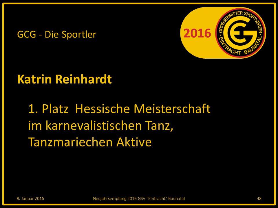 Neujahrsempfang 2016 GSV Eintracht Baunatal
